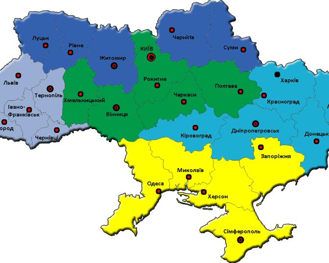 Тепловые зоны Украины