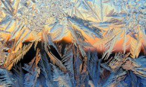 мороз на окне